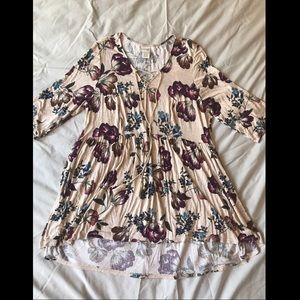 Terra & Sky plus size shirt that I used as a dress